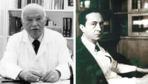 Jeanne Delay and Pierre Deniker:  psychiatrists at the Sainte-Anne mental hospital in Paris, who first used the new antipsychotic drug chlorpromazine in psychiatry to treat schizophrenia