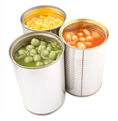 Keep a small stock of tinned and dried food in case you aren't able to get out to the shops