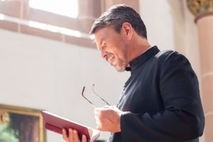 It is often said that a person with schizophrenia will go to see a priest before they see a psychiatrist. (Image:  Kzenon on Shutterstock)